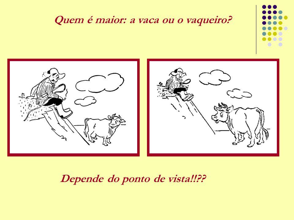 Quem é maior: a vaca ou o vaqueiro? Depende do ponto de vista!!??