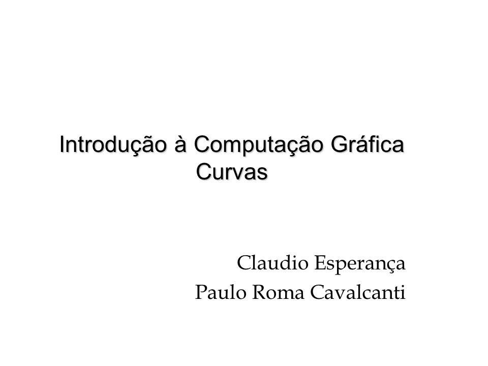 Introdução à Computação Gráfica Curvas Claudio Esperança Paulo Roma Cavalcanti
