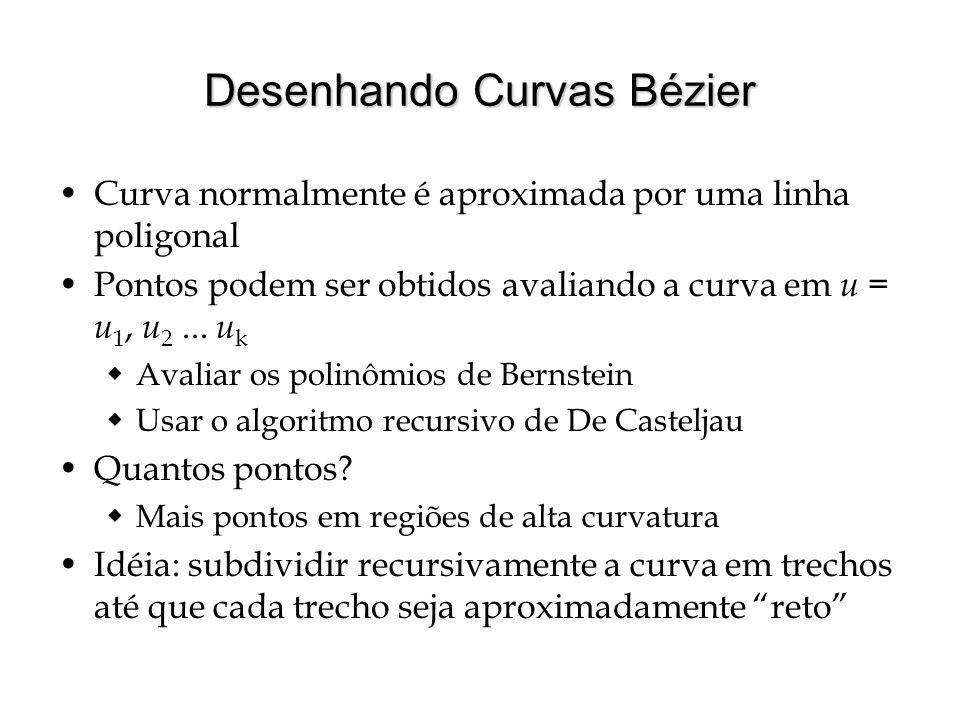 Subdivisão de Curvas Bézier Como saber se trecho da curva é reto .