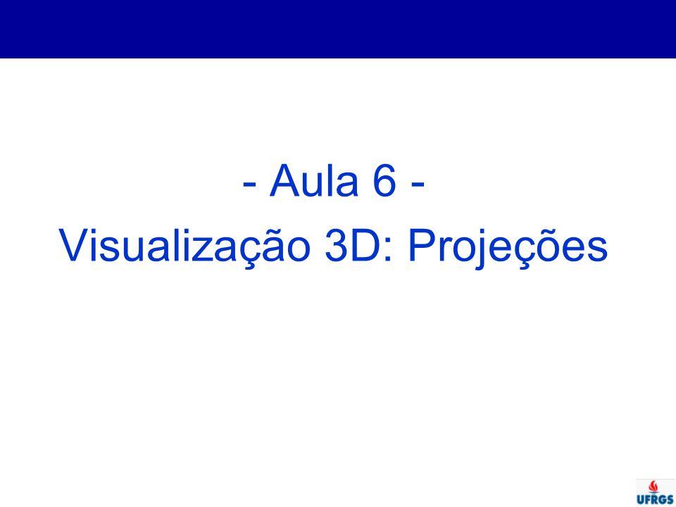- Aula 6 - Visualização 3D: Projeções