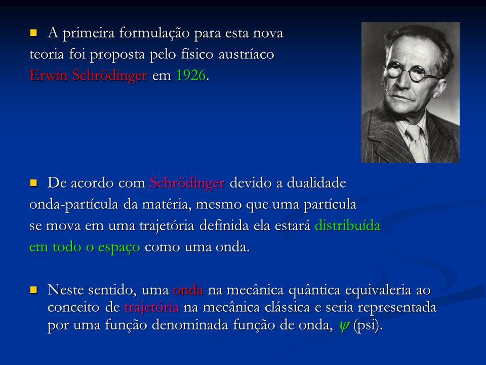A primeira formulação para esta nova A primeira formulação para esta nova teoria foi proposta pelo físico austríaco Erwin Schrödinger em 1926. De acor