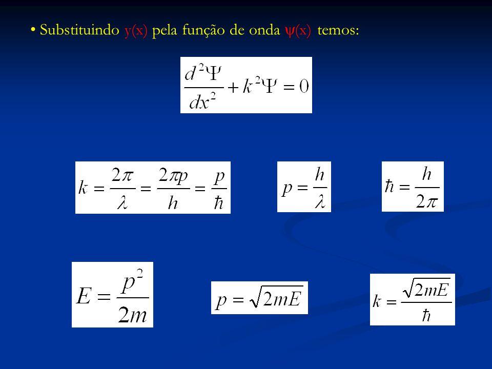 Schrödinger estacionária para partículas livres não relativísticas de massa m e energia E Esta é a equação de Schrödinger estacionária para partículas livres não relativísticas de massa m e energia E