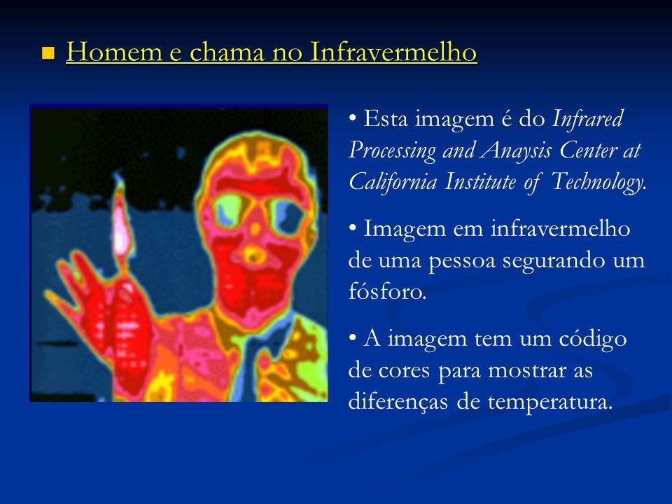 Homem e chama no Infravermelho Homem e chama no Infravermelho Esta imagem é do Infrared Processing and Anaysis Center at California Institute of Techn