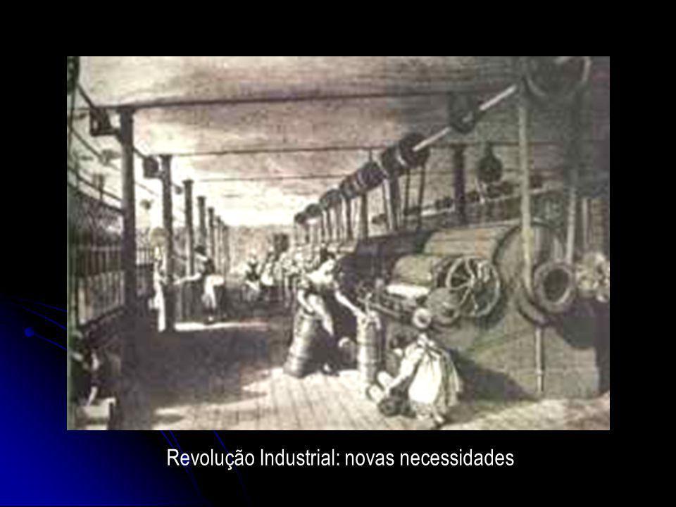Revolução Industrial: novas necessidades