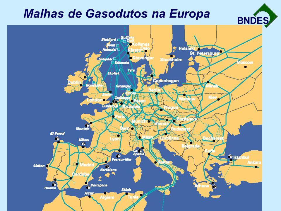 BNDES Malhas de Gasodutos na Europa
