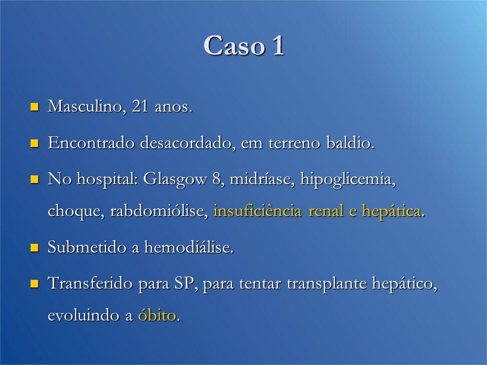 Análise Toxicológica Paciente 1Paciente 2Paciente 3Paciente 4 Cocaína++++ Maconha-+-+ Benzodiazepínico+-++