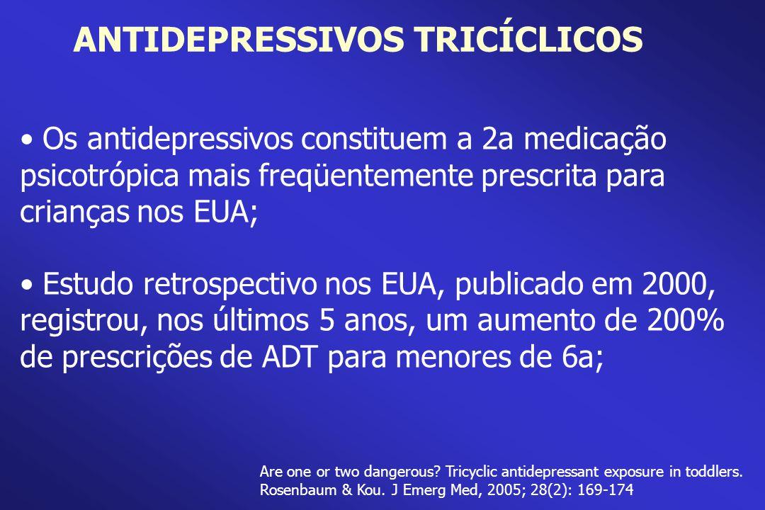 Os antidepressivos constituem a 2a medicação psicotrópica mais freqüentemente prescrita para crianças nos EUA; Estudo retrospectivo nos EUA, publicado