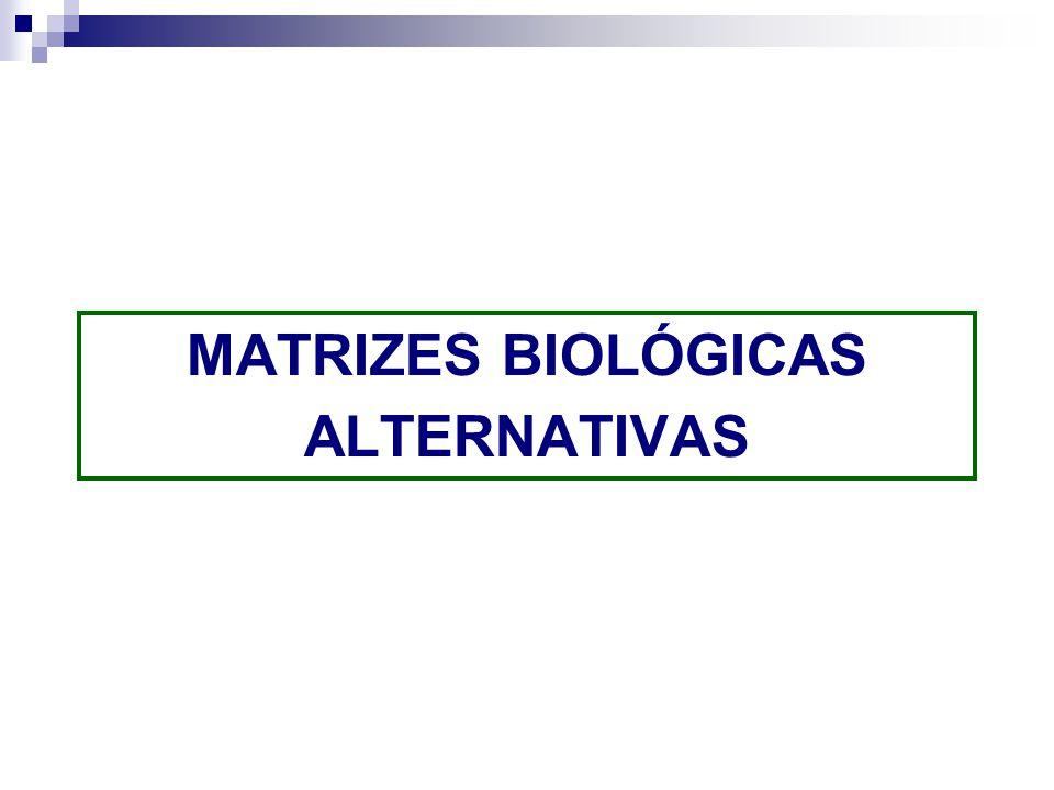 MATRIZES BIOLÓGICAS ALTERNATIVAS