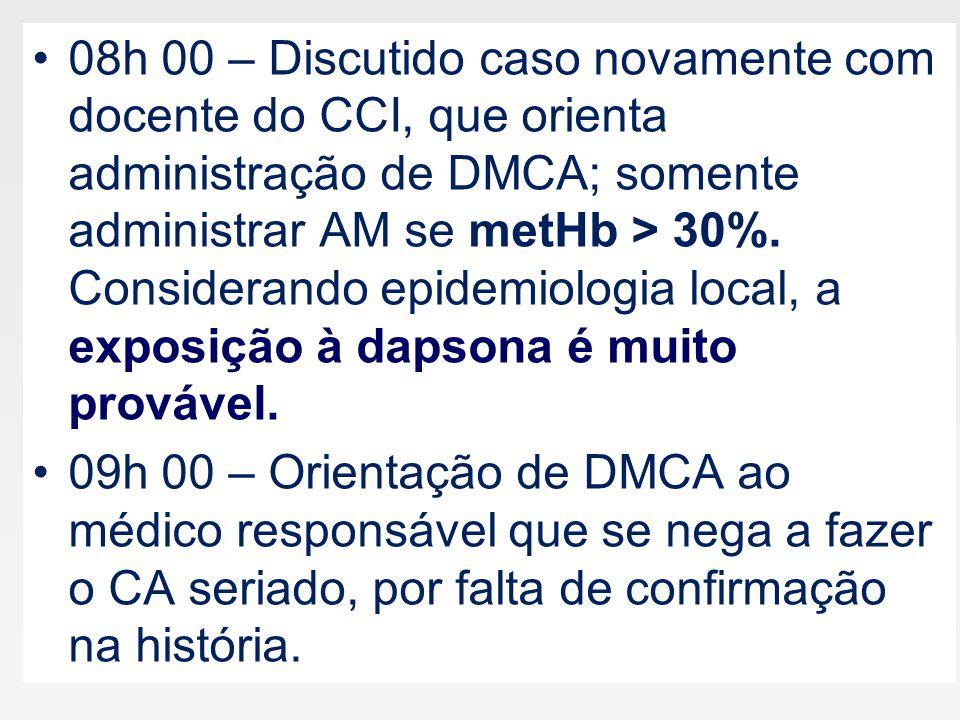 metemoglobinemia % Metemoglobinemia secundária à exposição ocupacional: relato de nove casos clínicos.