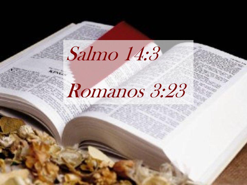 Salmo 14:3 Romanos 3:23