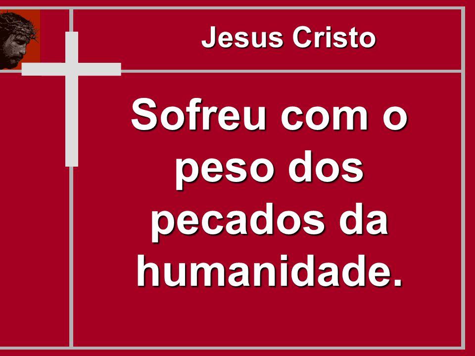 Sofreu com o peso dos pecados da humanidade. Jesus Cristo