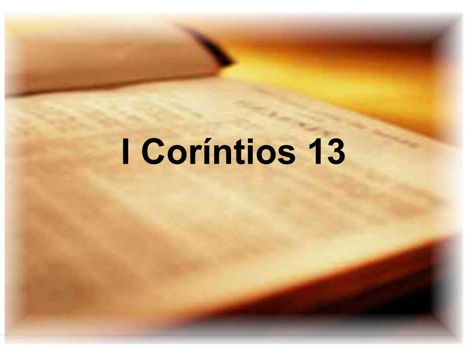 I Coríntios 13
