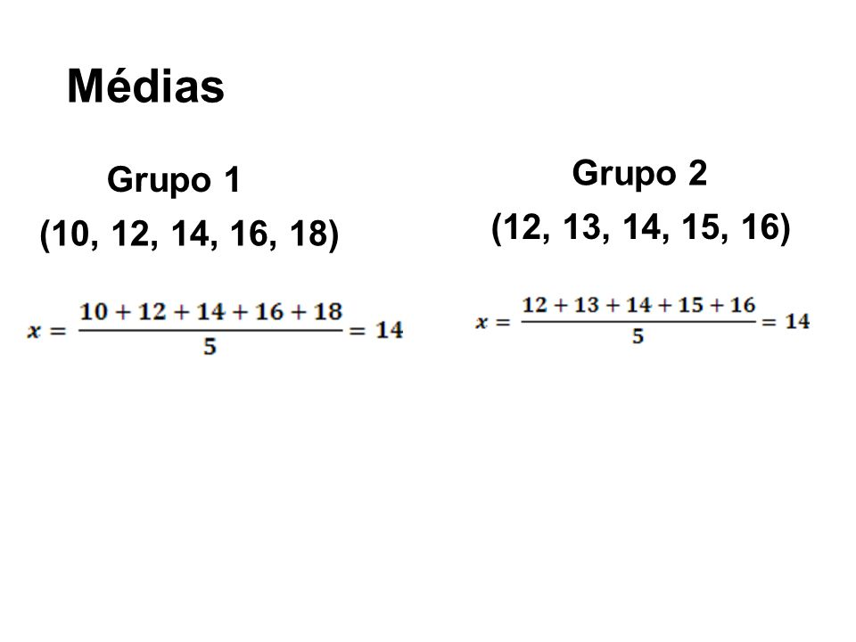 Mediana (10, 12, 14, 16, 18) (10, 10, 15, 16, 17, 20) M d = 14 Obs: se o número de termos for par, a mediana é a média dos termos centrais M d = 15,5