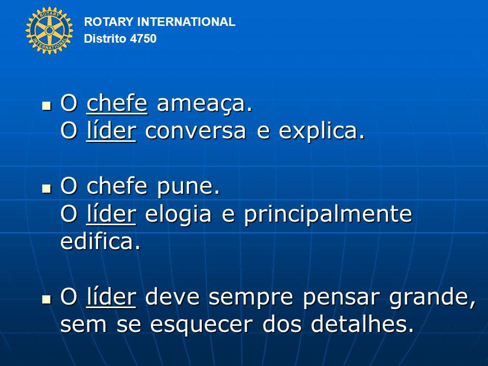 ROTARY INTERNATIONAL Distrito 4750 O chefe ameaça.