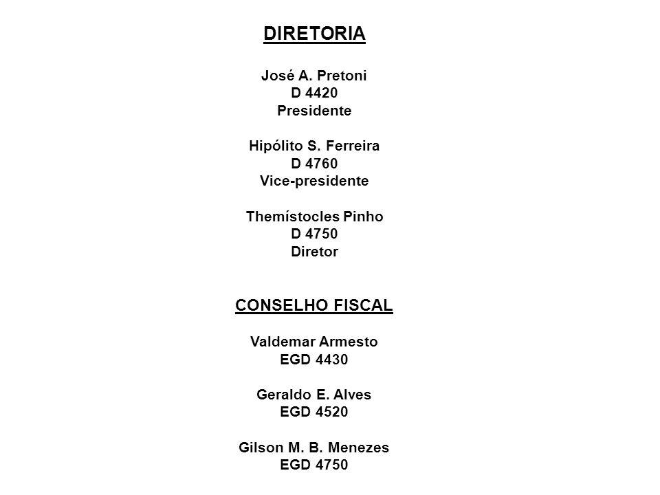 DIRETORIA José A.Pretoni D 4420 Presidente Hipólito S.