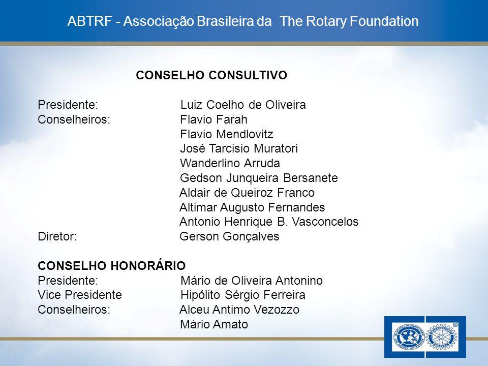 16 ABTRF - Associação Brasileira da The Rotary Foundation CONSELHO CONSULTIVO Presidente: Luiz Coelho de Oliveira Conselheiros: Flavio Farah Flavio Me