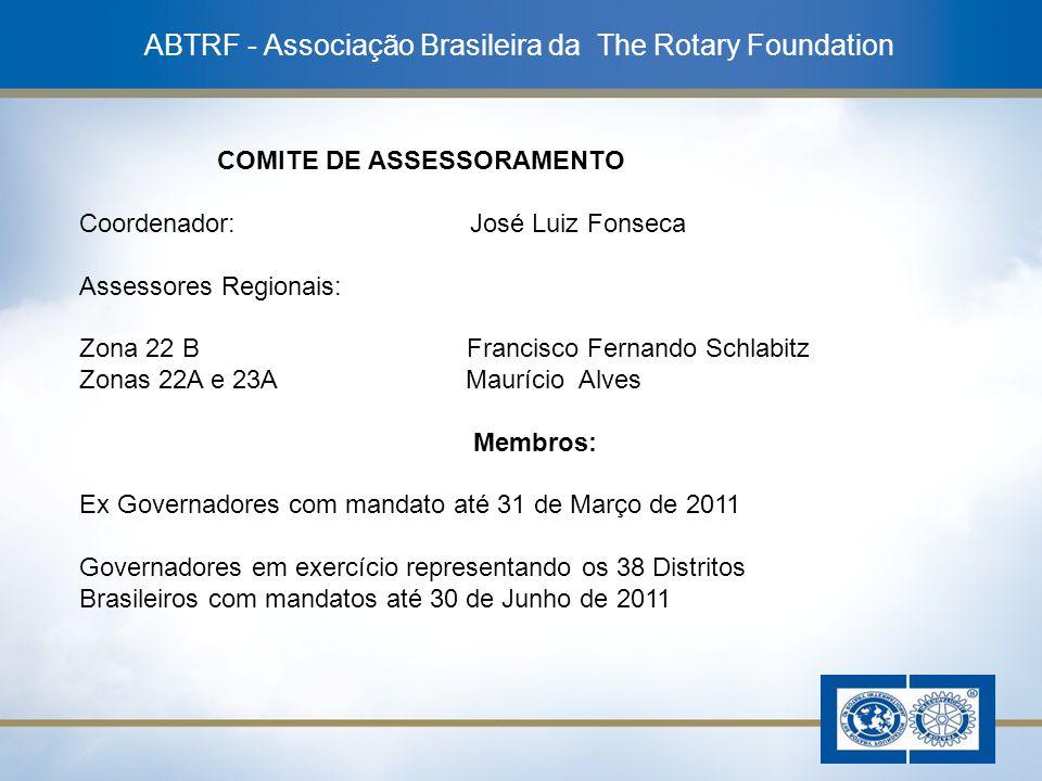 18 ABTRF - Associação Brasileira da The Rotary Foundation COMITE DE ASSESSORAMENTO Coordenador: José Luiz Fonseca Assessores Regionais: Zona 22 B Fran
