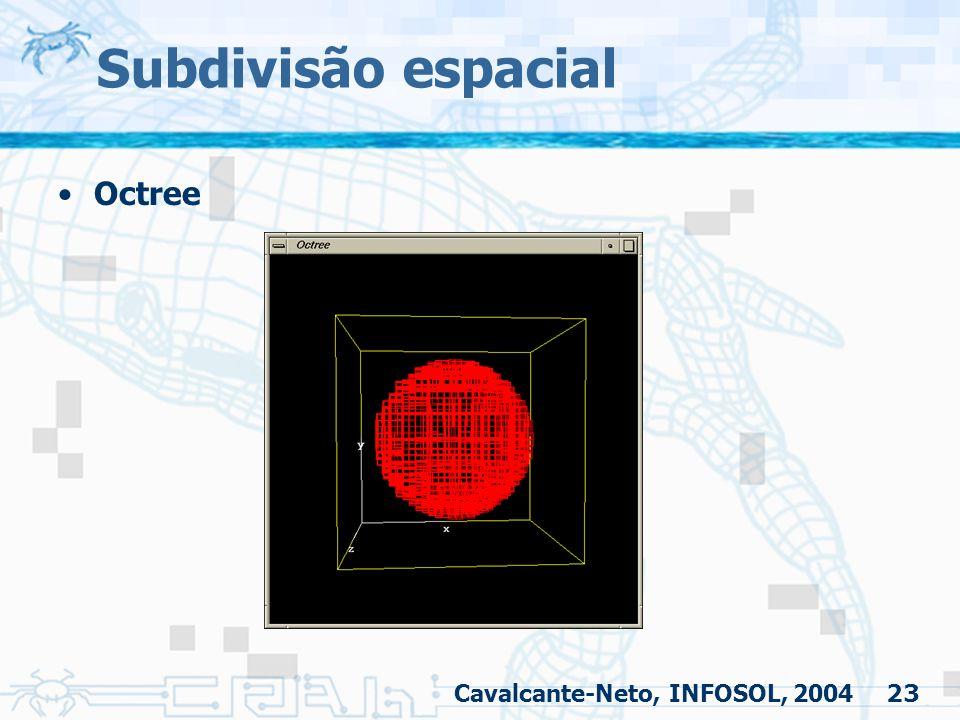 23 Subdivisão espacial Octree Cavalcante-Neto, INFOSOL, 2004