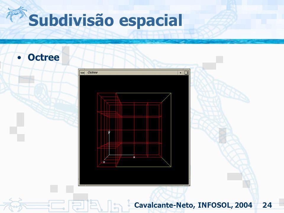 24 Subdivisão espacial Octree Cavalcante-Neto, INFOSOL, 2004