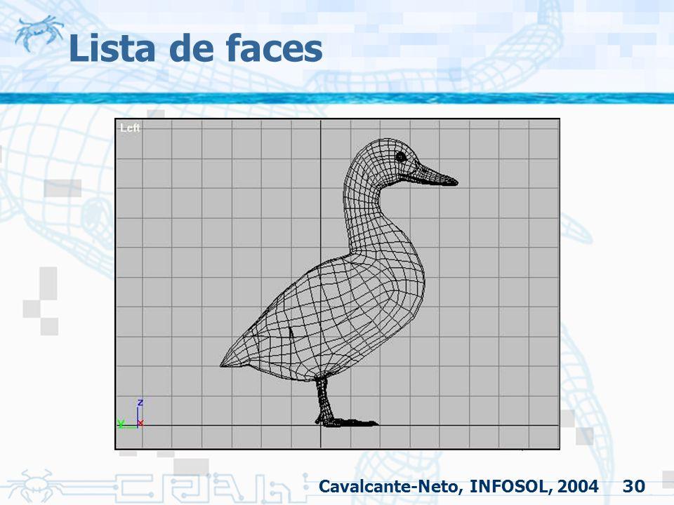 30 Lista de faces Cavalcante-Neto, INFOSOL, 2004