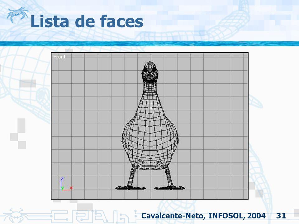 31 Lista de faces Cavalcante-Neto, INFOSOL, 2004