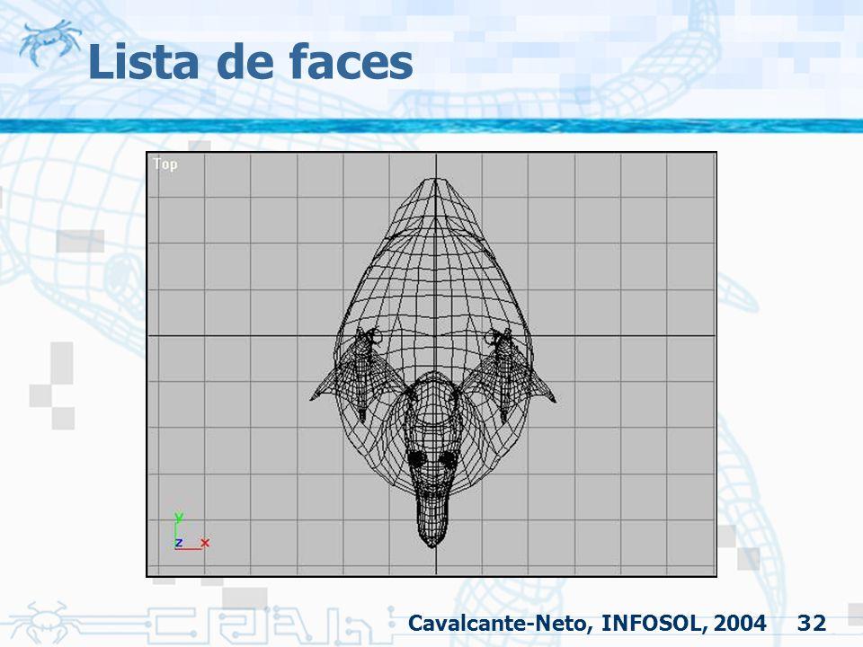 32 Lista de faces Cavalcante-Neto, INFOSOL, 2004