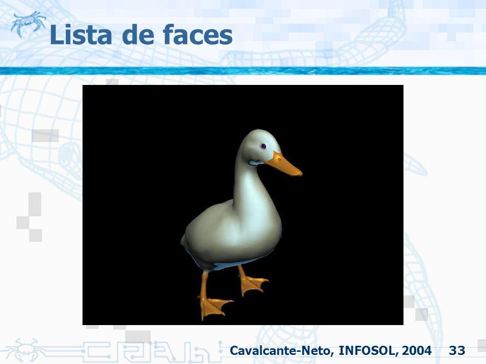 33 Lista de faces Cavalcante-Neto, INFOSOL, 2004