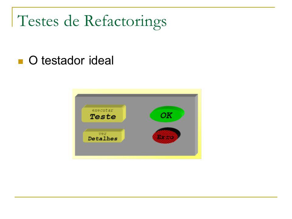 Testes de Refactorings O testador ideal