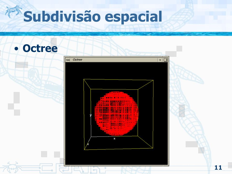 11 Subdivisão espacial Octree