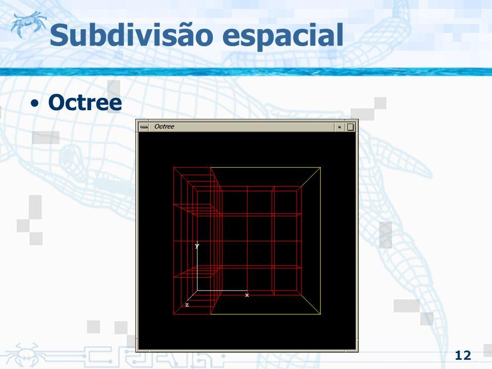 12 Subdivisão espacial Octree
