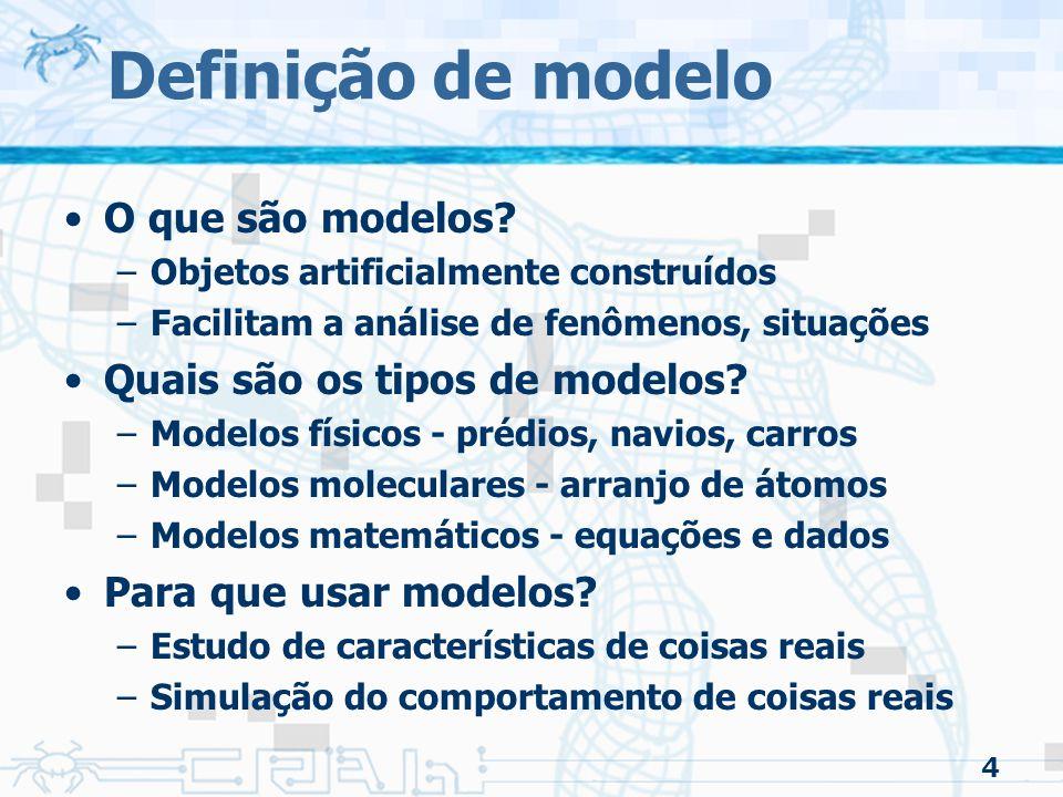 4 Definição de modelo O que são modelos.
