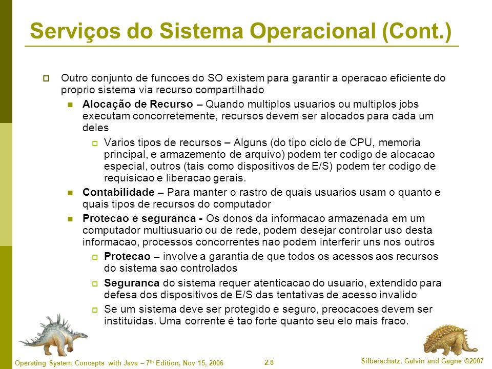2.19 Silberschatz, Galvin and Gagne ©2007 Operating System Concepts with Java – 7 th Edition, Nov 15, 2006 Passagem de Parametro via Tabela