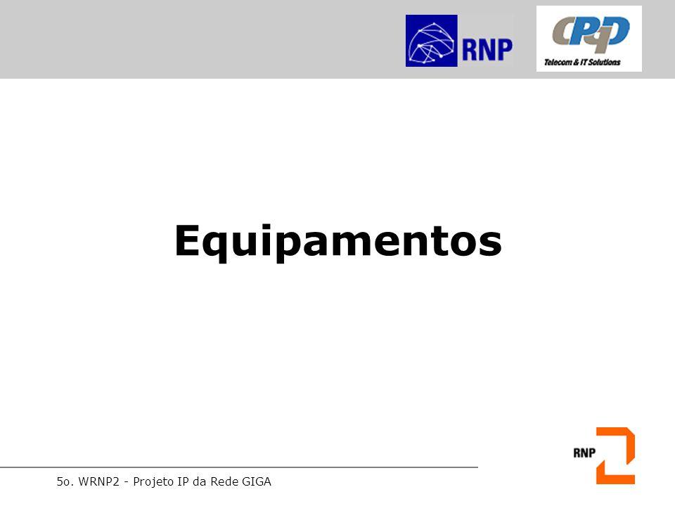 5o. WRNP2 - Projeto IP da Rede GIGA Equipamentos