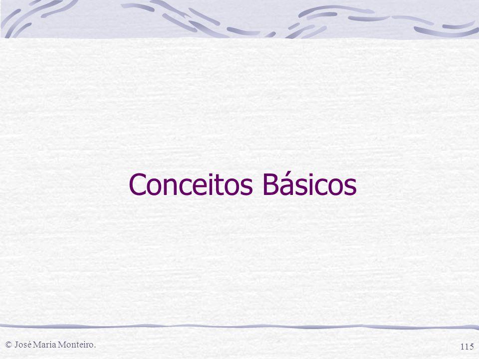© José Maria Monteiro. 115 Conceitos Básicos