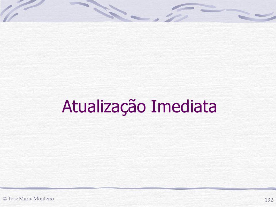 © José Maria Monteiro. 132 Atualização Imediata
