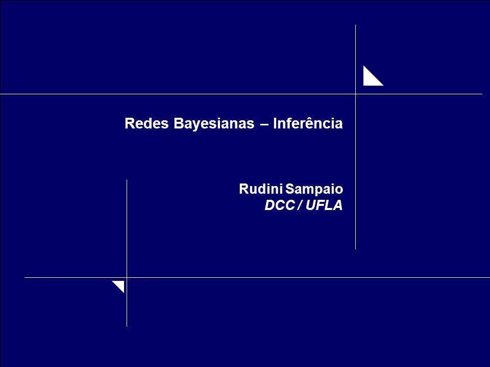 Redes Bayesianas – Inferência Rudini Sampaio DCC / UFLA