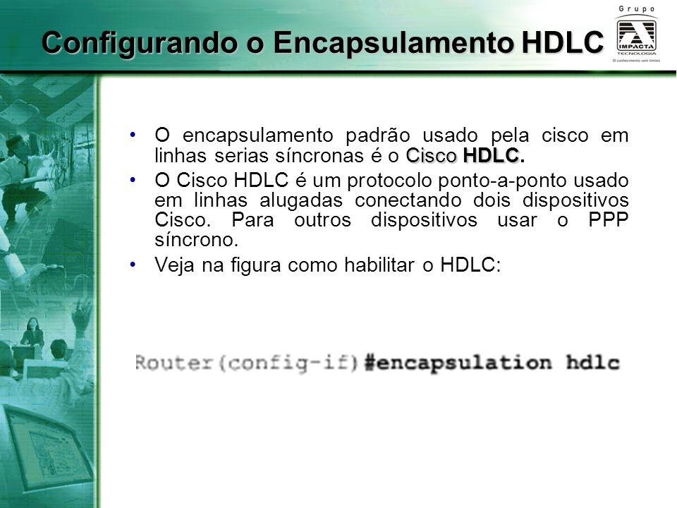Cisco HDLCO encapsulamento padrão usado pela cisco em linhas serias síncronas é o Cisco HDLC. O Cisco HDLC é um protocolo ponto-a-ponto usado em linha