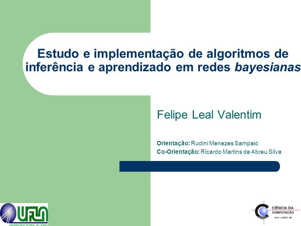 Estudo e implementação de algoritmos de inferência e aprendizado em redes bayesianas Felipe Leal Valentim Orientação: Rudini Menezes Sampaio Co-Orient
