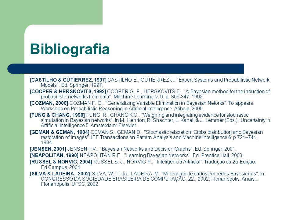 Bibliografia [CASTILHO & GUTIERREZ, 1997] CASTILHO E., GUTIERREZ J..