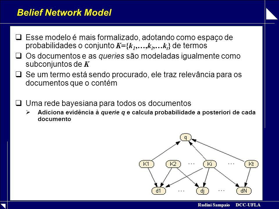Rudini Sampaio DCC-UFLA Belief Network Model Tabelas de Probabilidade  Vector Model: (Noisy OR)