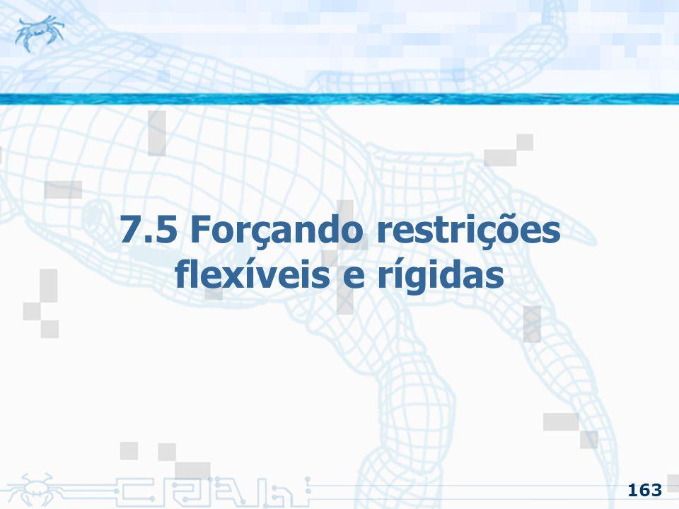 163 7.5 Forçando restrições flexíveis e rígidas