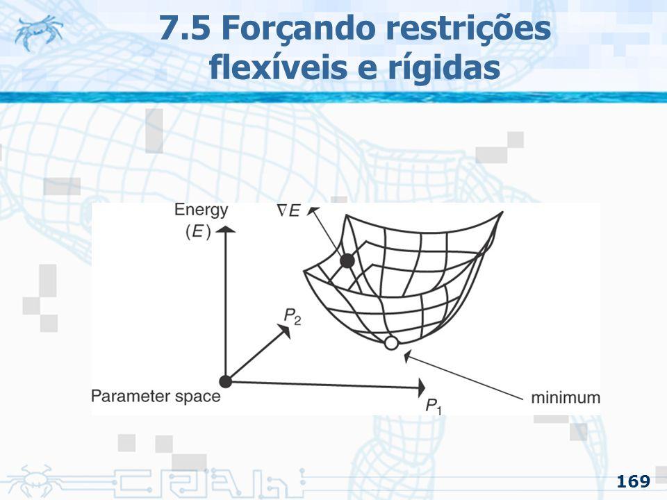 169 7.5 Forçando restrições flexíveis e rígidas