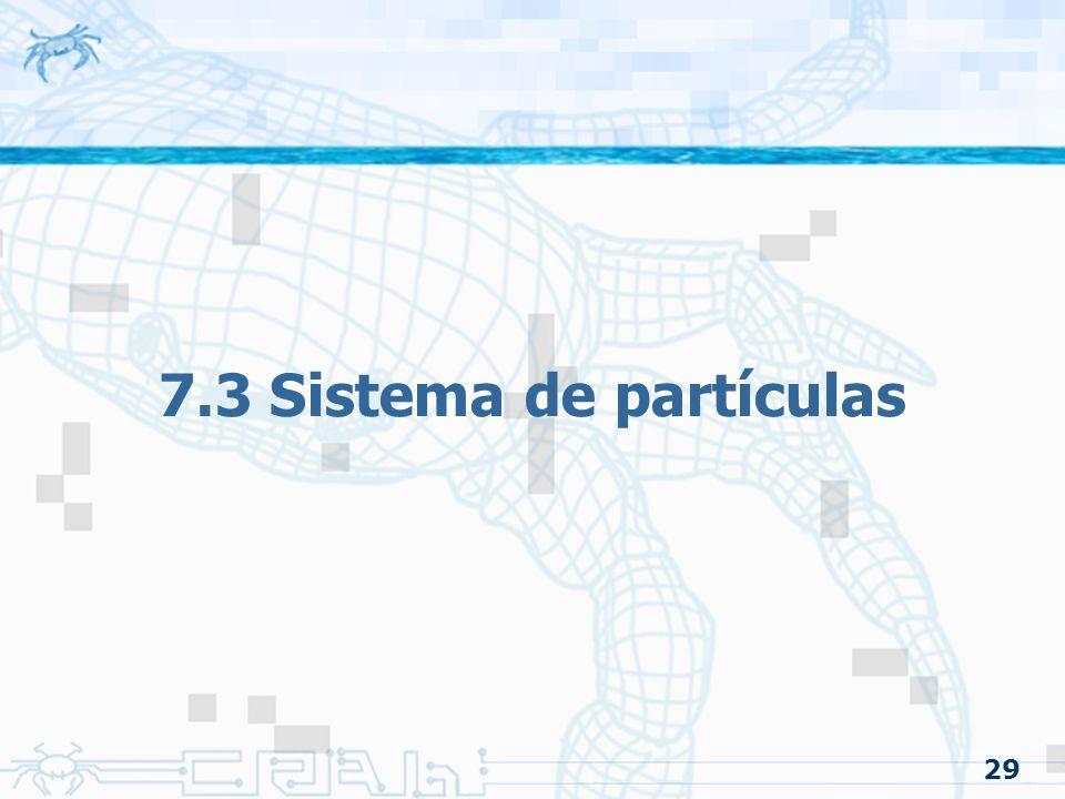 29 7.3 Sistema de partículas