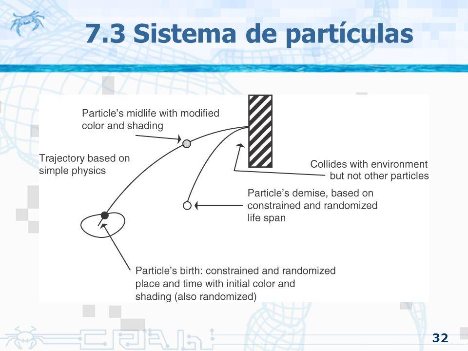 32 7.3 Sistema de partículas