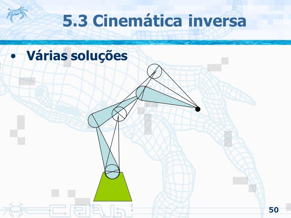 50 5.3 Cinemática inversa Várias soluções