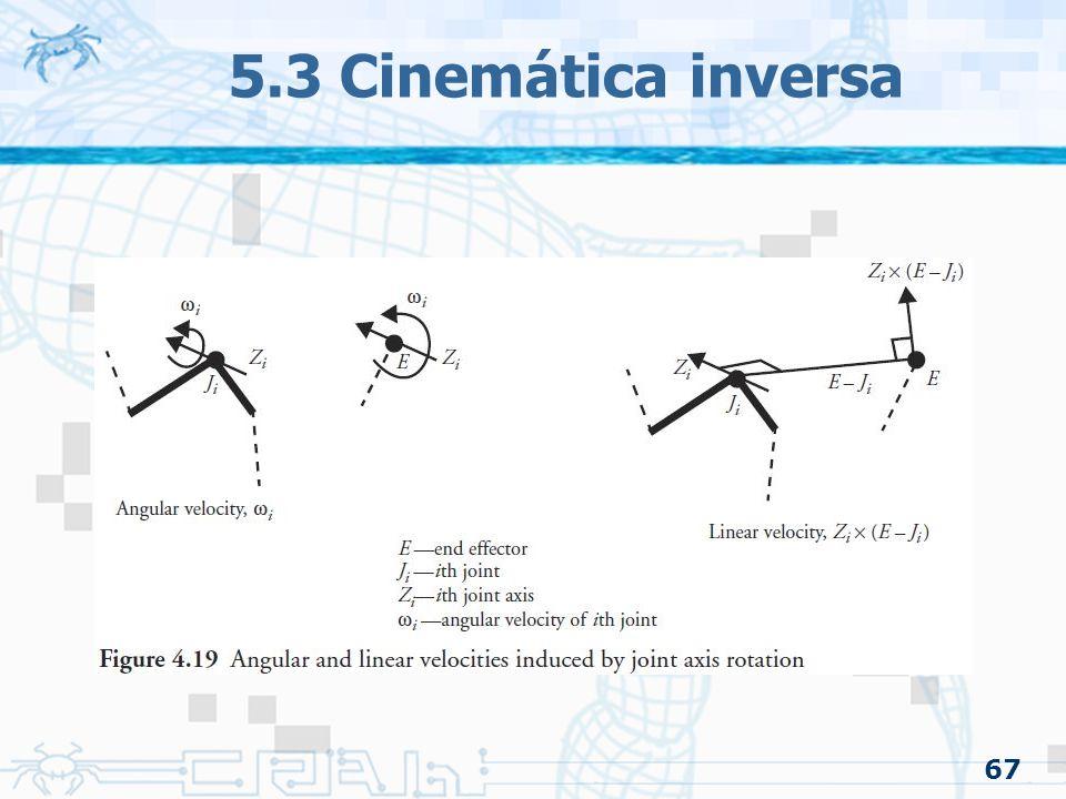 67 5.3 Cinemática inversa