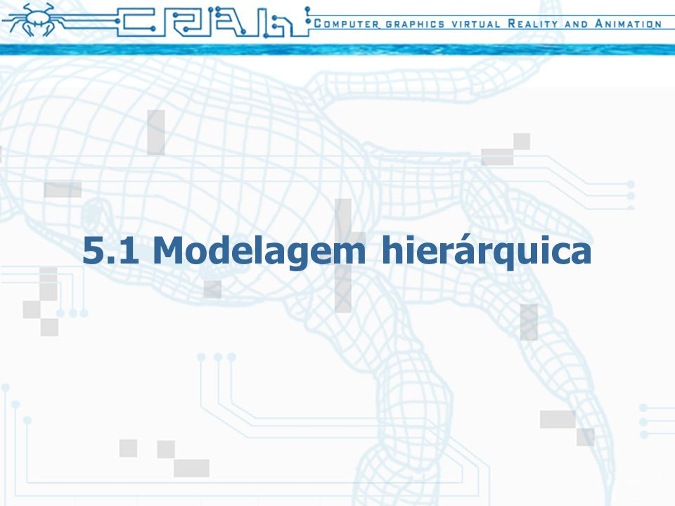20 5.1 Modelagem hierárquica Termos –Grau de liberdade O menor número de coordenadas necessárias para especificar completamente o movimento de um objeto –Juntas que possuem um grau de liberdade: