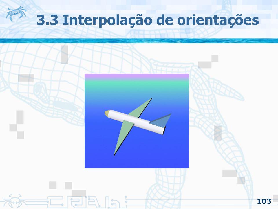 104 3.3 Interpolação de orientações