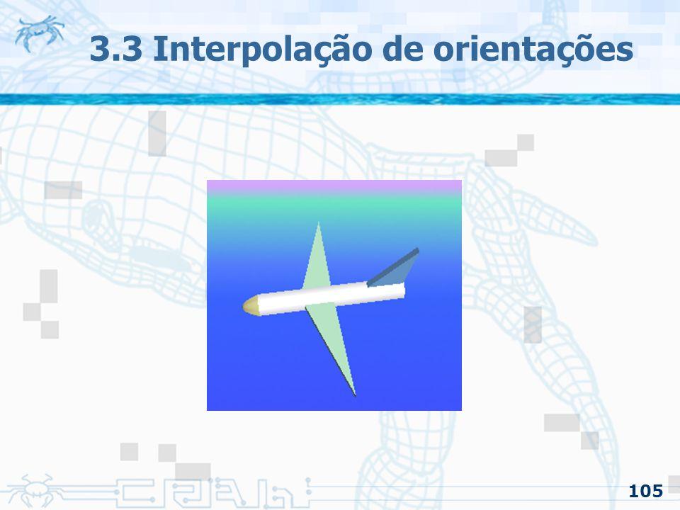 106 3.3 Interpolação de orientações