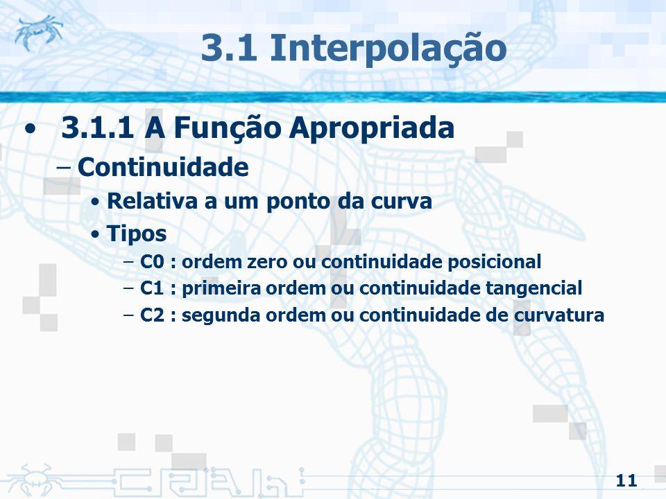 12 3.1 Interpolação
